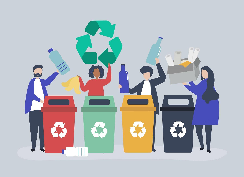 coleta de lixo seletivo